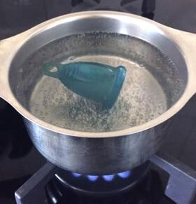 stérilisation avant de mettre la cup