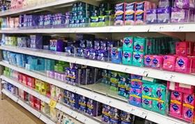 tampons au supermarché