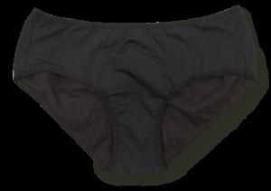 une culotte menstruelle noire