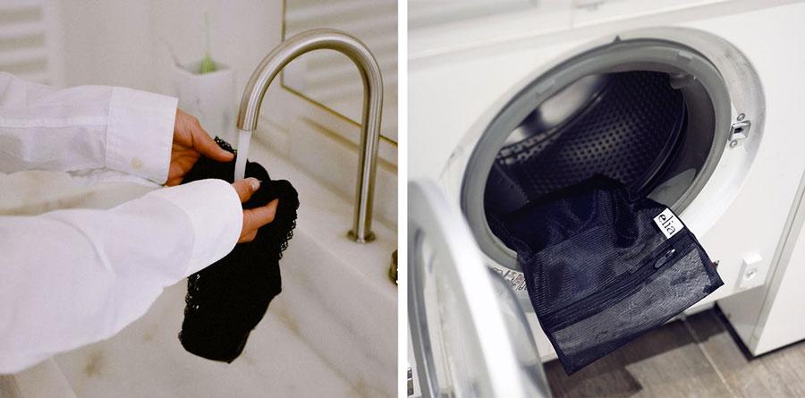 utilisation du filet de lavage elia lingerie