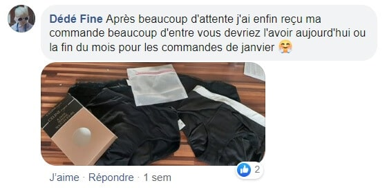 post facebook céline lingerie