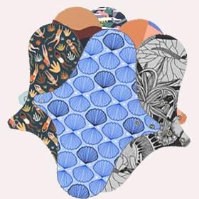 lot de 6 serviettes lavables Dans Ma Culotte