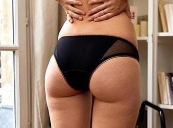 tanga menstruel porté