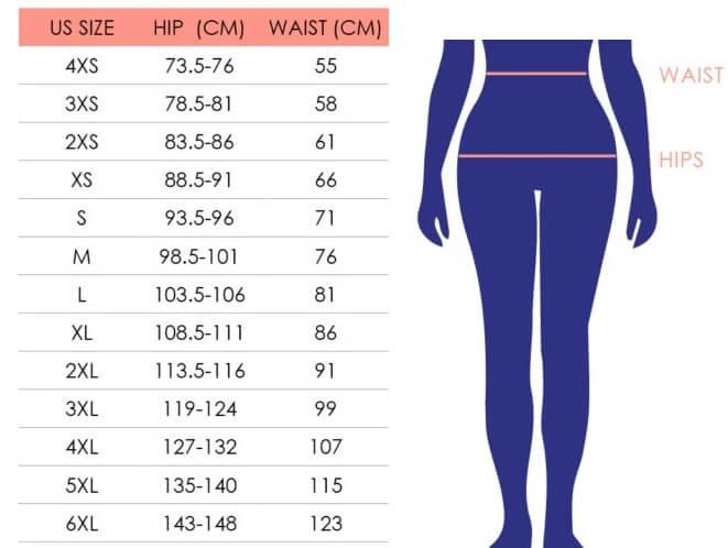 guide des tailles pour les culottes menstruelles