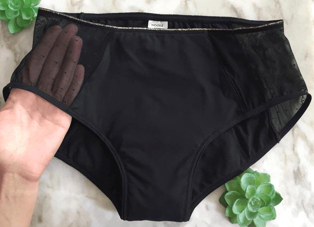 shorty menstruel moodz pour gros flux