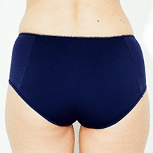 shorty menstruel moodz bleu