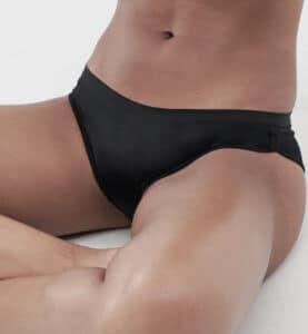 a black period panty
