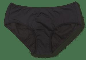 black menstrual underwear