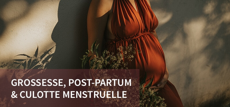La culotte menstruelle Loulou idéale pour la grossesse et en post-partum