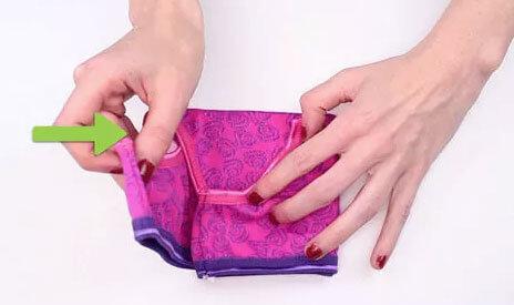 comment plier une culotte menstruelle