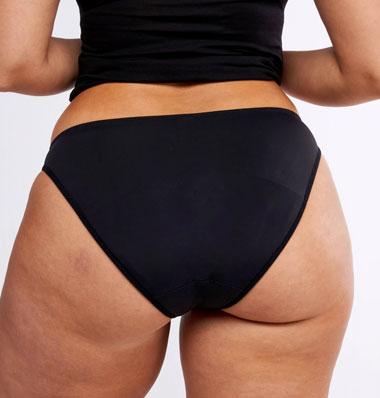 arrière de la culotte menstruelle modibodi avec agrafes